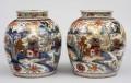 Pair Chinese Qianlong Clobbered Vases, Circa 1780