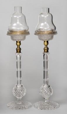 Pair of Tall Glass Cricklites, Circa 1880