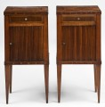 Pair 18th Century Italian Walnut Side Commodes