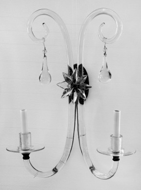 Pair French Glass Wall Sconces, Circa 1900