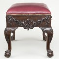 Irish Mahogany Carved Stool, Circa 1790