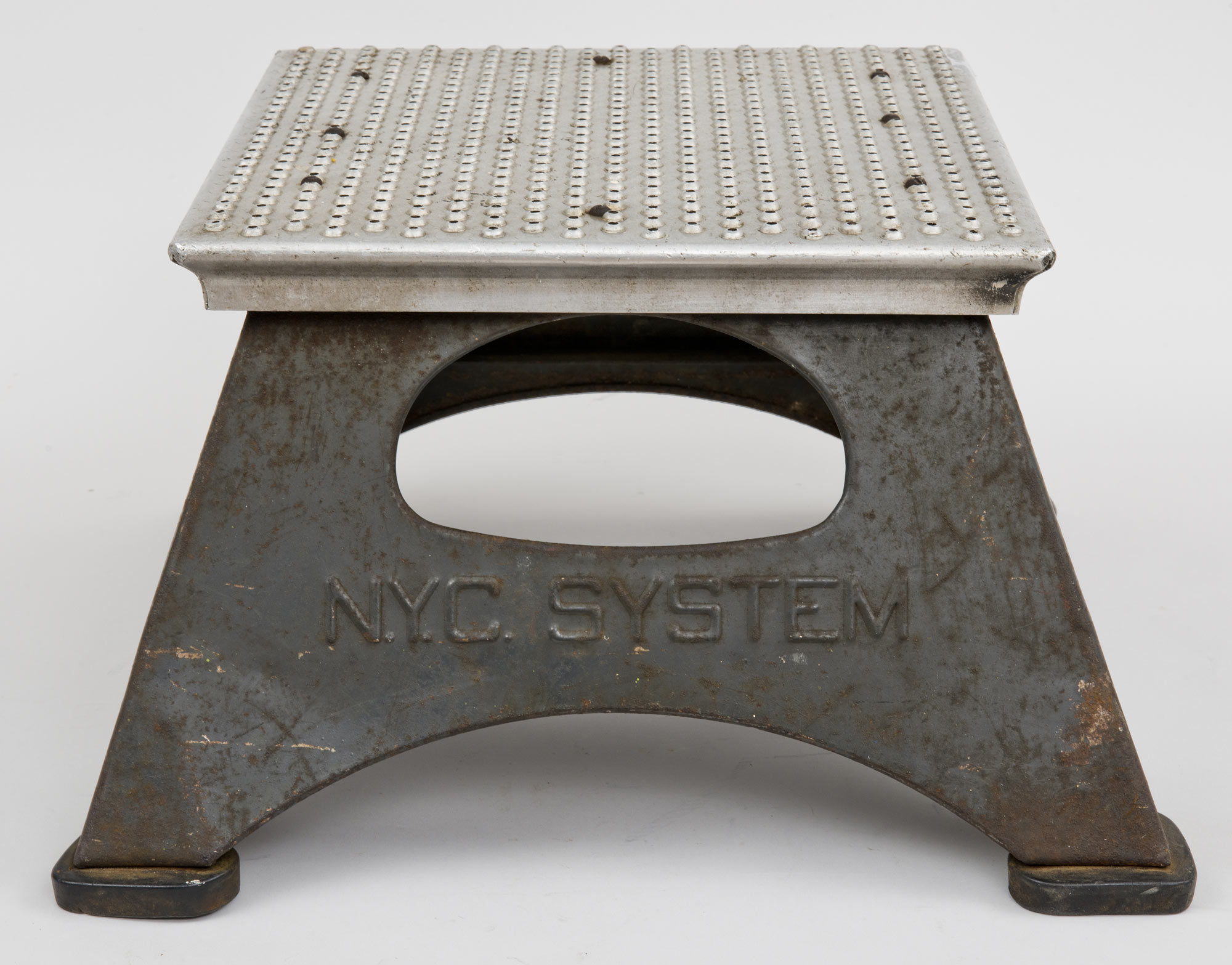 New York Central Train Antique Step Stool 1940 S Steel Step Stool