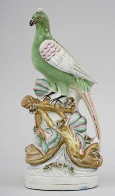Rare Staffordshire Peacock, Circa 1850