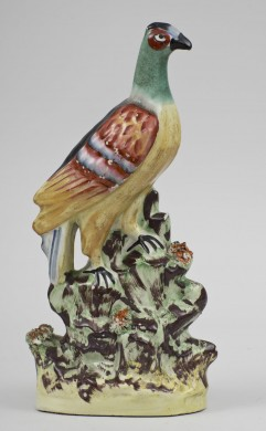Rare Staffordshire Exotic Bird, Circa 1850