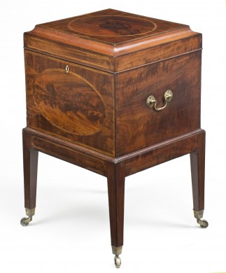 Sheraton Period Mahogany Cellarette, Circa 1790