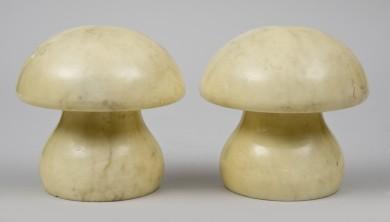 Mushroom-Shaped Bookends