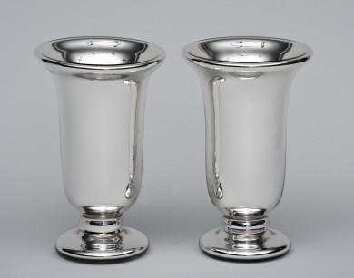 Pair of Mercury Glass Vases By Varnish
