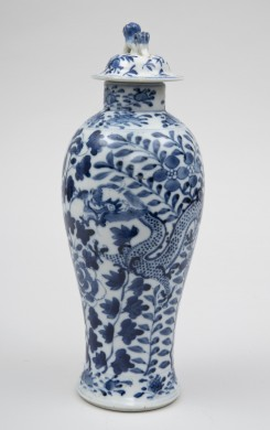 Chinese Baluster Vase & Lid