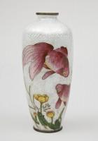 Japanese Ginbari Cloisonne Vase, Meiji Period