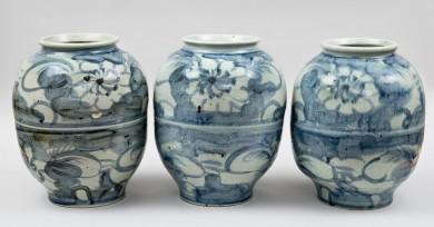 Set of three Korean Large Ceramic Vases