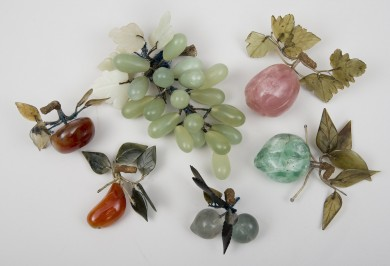 Chinese Vintage Hard Stone Fruits