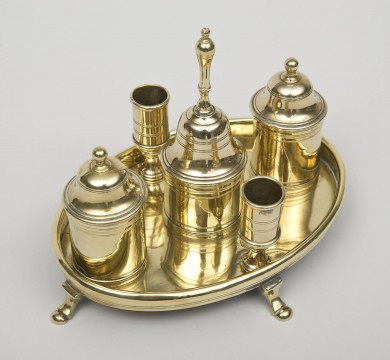 Georgian Brass Desk Set, Circa 1770