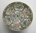 Antique Chinese Canton Rose Medallion Punch Bowl, Circa 1850