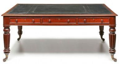 Regency Partners Writing Table, Circa 1825