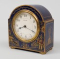 Blue Chinoiserie Desk Clock, Circa 1910