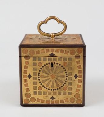 Small Brass inlaid Box