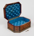 Walnut and Brass Inlaid Jewelrey Box, Circa 1850