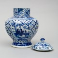 Chinese Blue and White Baluster Jar & Lid