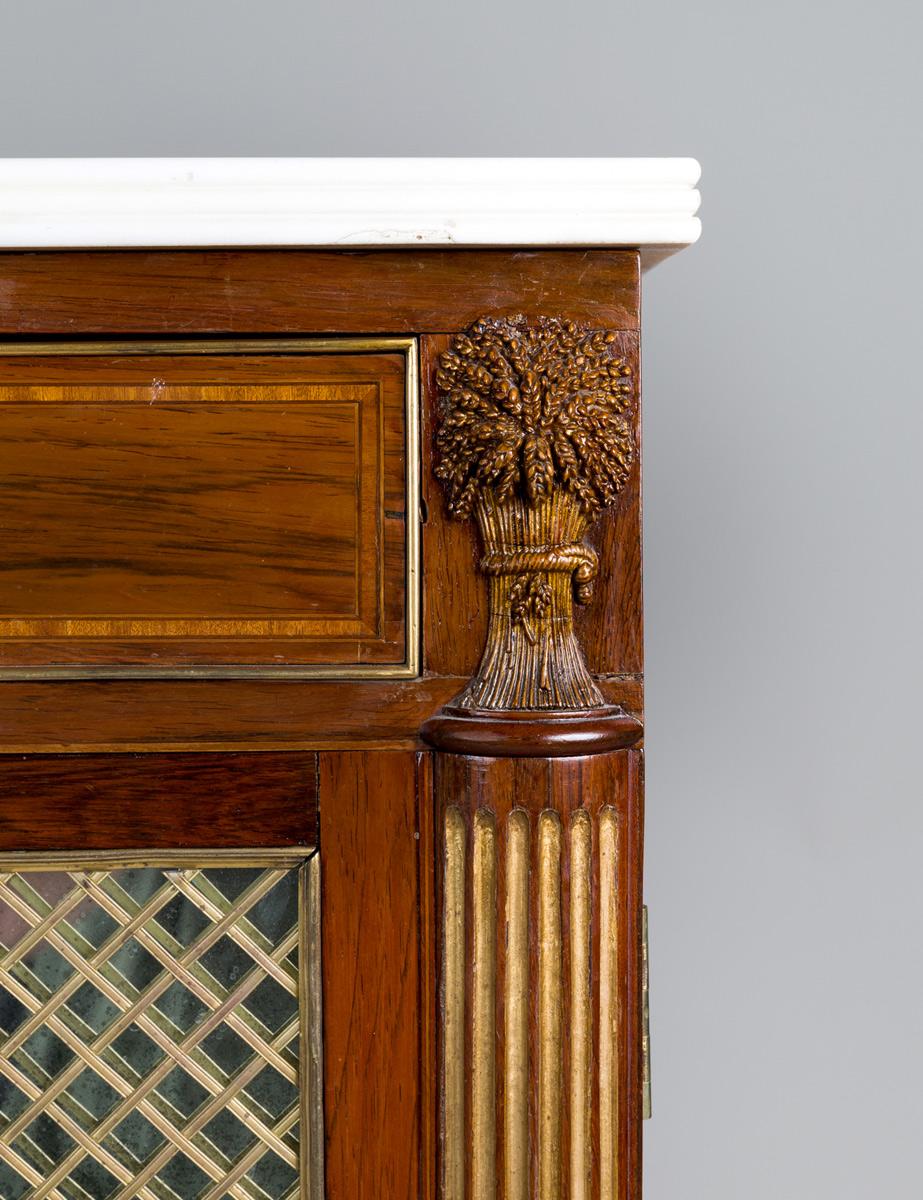 Fine Regency Rosewood Credenza Or Cabinet