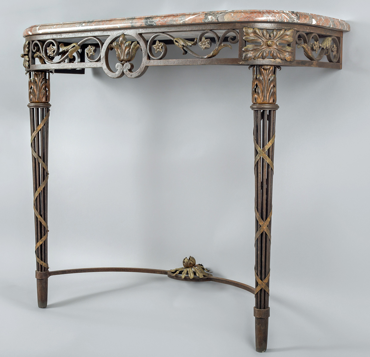 Iron And Marble Console Table
