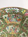 Large Chinese Rose Medallion Punch Bowl