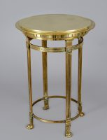French Bronze Round Gueridon Table