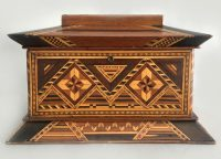 American Inlaid Jewelry or Ladies Work Box