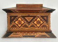 American Inlaid Jewelry or Ladies Work Box
