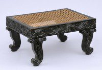 Antique Anglo-Ceylonese Carved Footstool