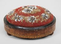 Round Beaded Foot Stool