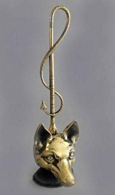 Brass Doorstop in Form of a Fox