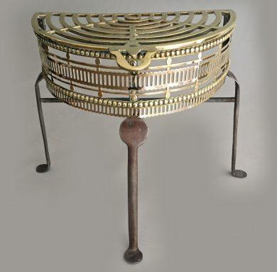 Antique Brass and Iron Pierced Trivet
