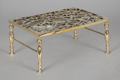 Antique Pierced Brass Trivet