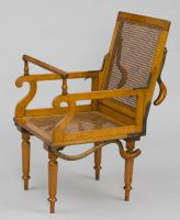 Antique Campaign Folding Armchair, Maker: J. Alderman, London, Circa 1870