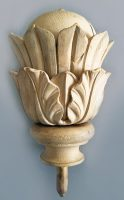 Antique Pine Carved Finial