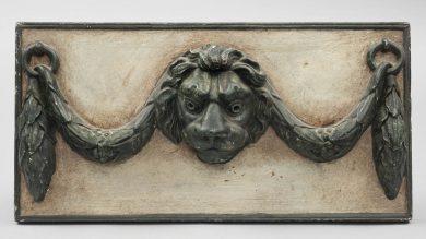 Antique Carving of a Lion's Head