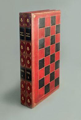 Antique Backgammon and Chess Board Book Box