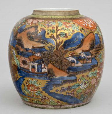 Chinese 18th Century Clobbered Jar