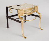 Antique English Brass and Iron Trivet, Circa 1850