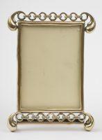 Antique English Brass Photo Frame, Circa 1900
