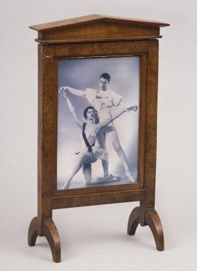 Antique English Elm & Walnut Table Screen or Photo Frame, Circa 1820