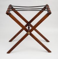 Antique English Mahogany Folding Tray Stand, Circa 1840