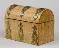 Antique Maple Stationery Box, Circa 1880