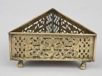 Pierced Brass Triangular Coaster