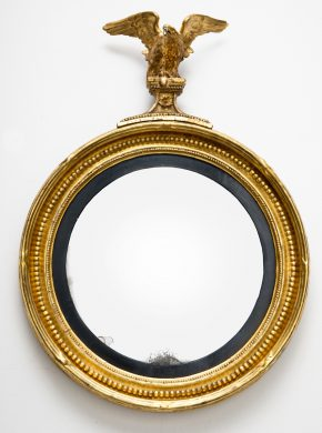 Regency Convex Mirror, Circa 1810