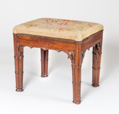Rosewood Gothic Revival Stool