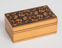 Small Tunbridgeware Satinwood Jewelry Box