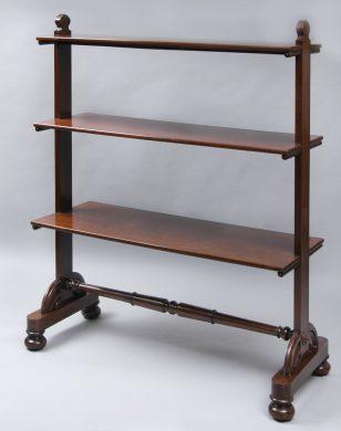 Antique English William IV Mahogany Buffet or Bookshelves, Circa 1840
