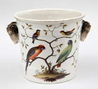 Antique German Porcelain Jardiniere, Circa 1870