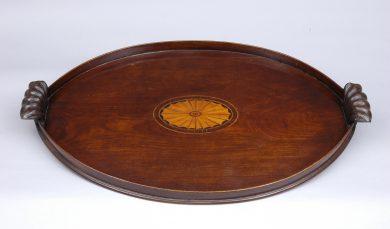 Antique Irish Oval Tray, Circa 1780